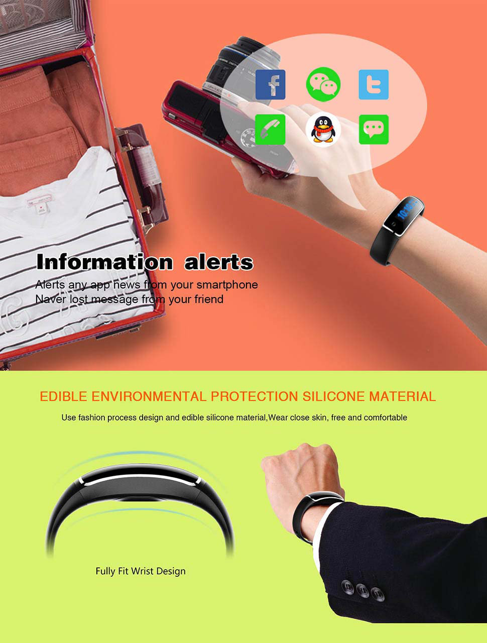XIAOOU W8 Waterproof Smart Watch with Curved Screen Support Blood Pressure  Monitor Bluetooth Bracelet for Apple Samsung