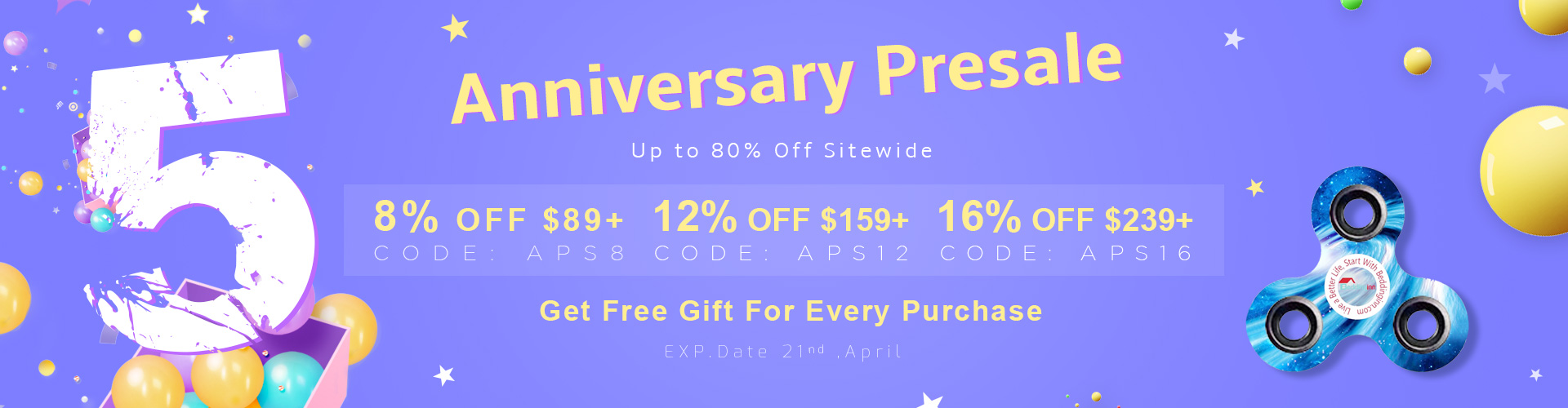 Up to 80% Off Storewide+8% OFF over $89,CODE:APS8,12% OFF over $159,CODE:APS12,16% OFF over $239,CODE:APS16 ,Get Free Gift For Every Purchase