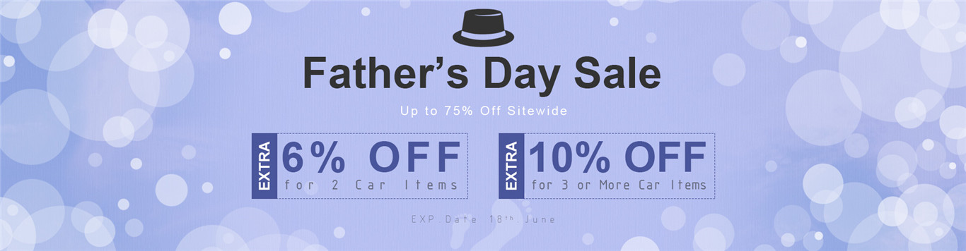 Up to 75% Off Storewide+Extra 6% OFF for 2 Car Items.Extra 10% OFF for 3 or More Car Items