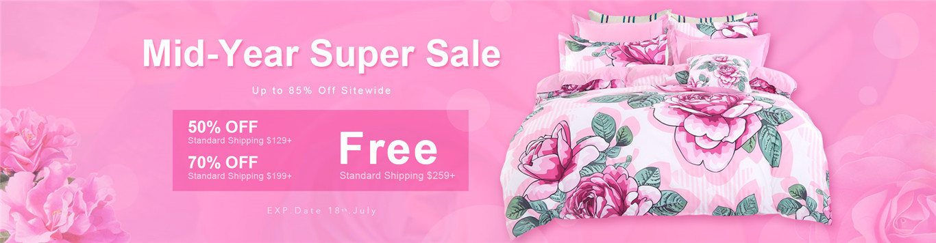 Up to 85% Off Storewide+50% OFF Standard Shipping over $129;70% OFF Standard Shipping over $199;Free Standard Shipping  over $259.