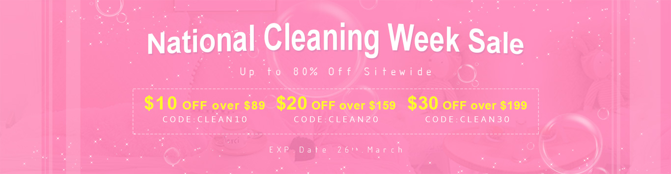 Up to 85% Off Sitewide+$10 OFF over $89,CODE:CLEAN10,$20 OFF over $159,CODE:CLEAN20,$30 OFF over $199,CODE:CLEAN30