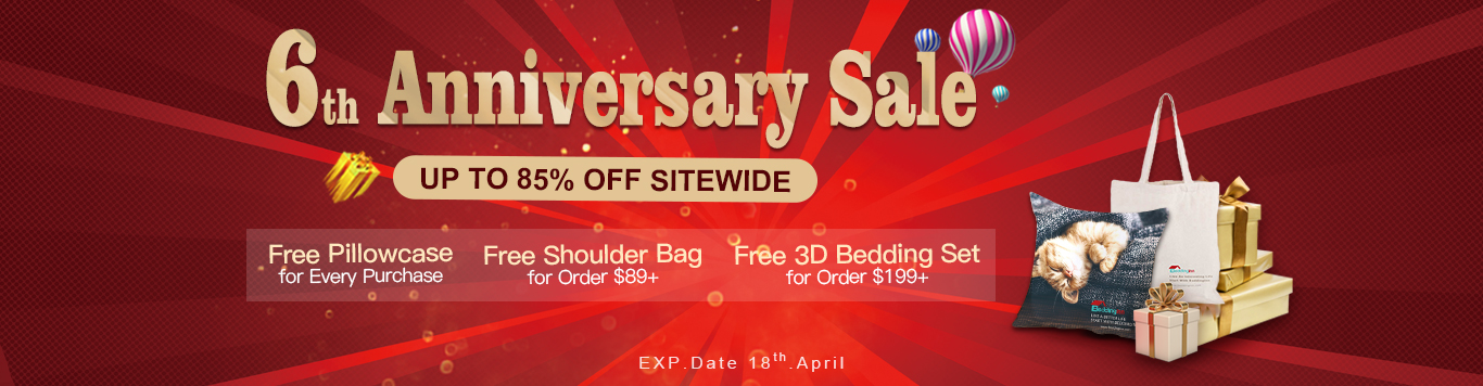 Up to 85% Off Sitewide+Free Pillowcase for Every Purchase,Free Shoulder Bag for Order $89+,Free 3D Bedding Set for Order $199+.