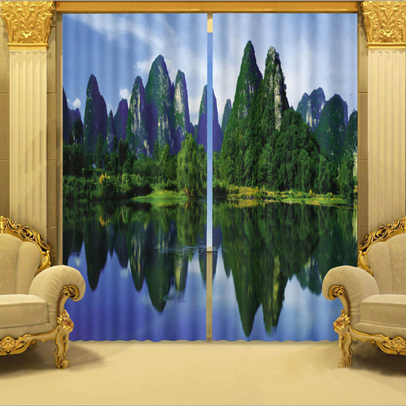 Beddinginn 3D Nature Forest Modern Blackout Curtain