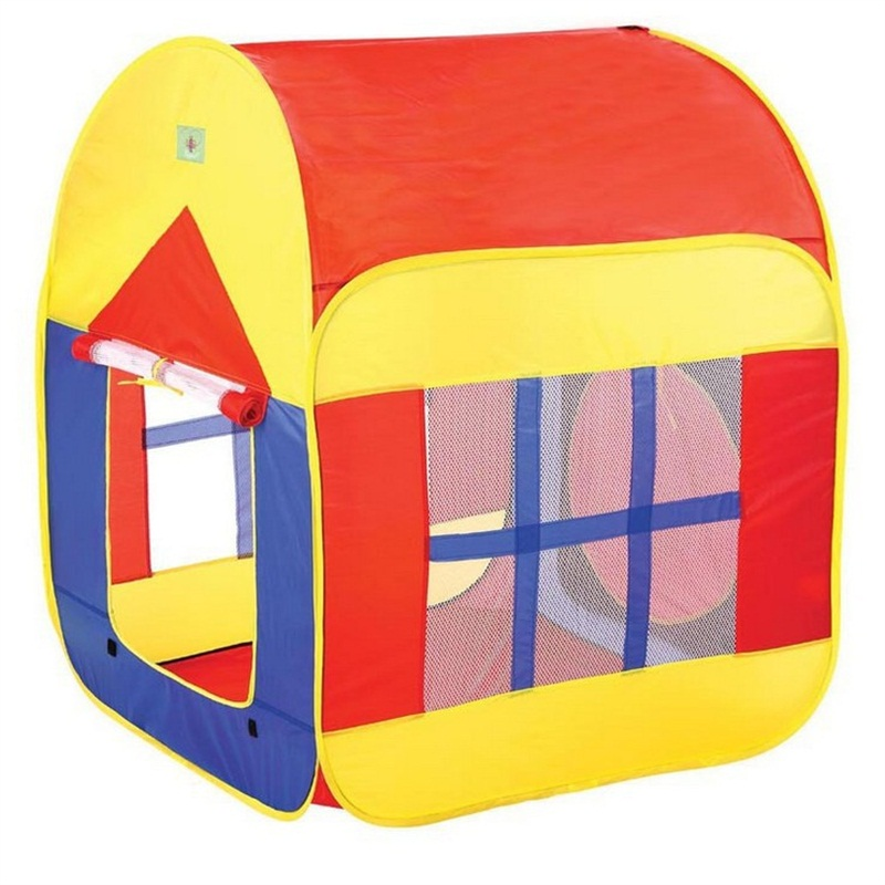 House Shaped Simple Style Polyester Kids Indoor Playing Tent