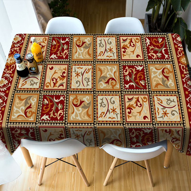Realistic Design Polyester Rectangle 3D Style Tablecloth