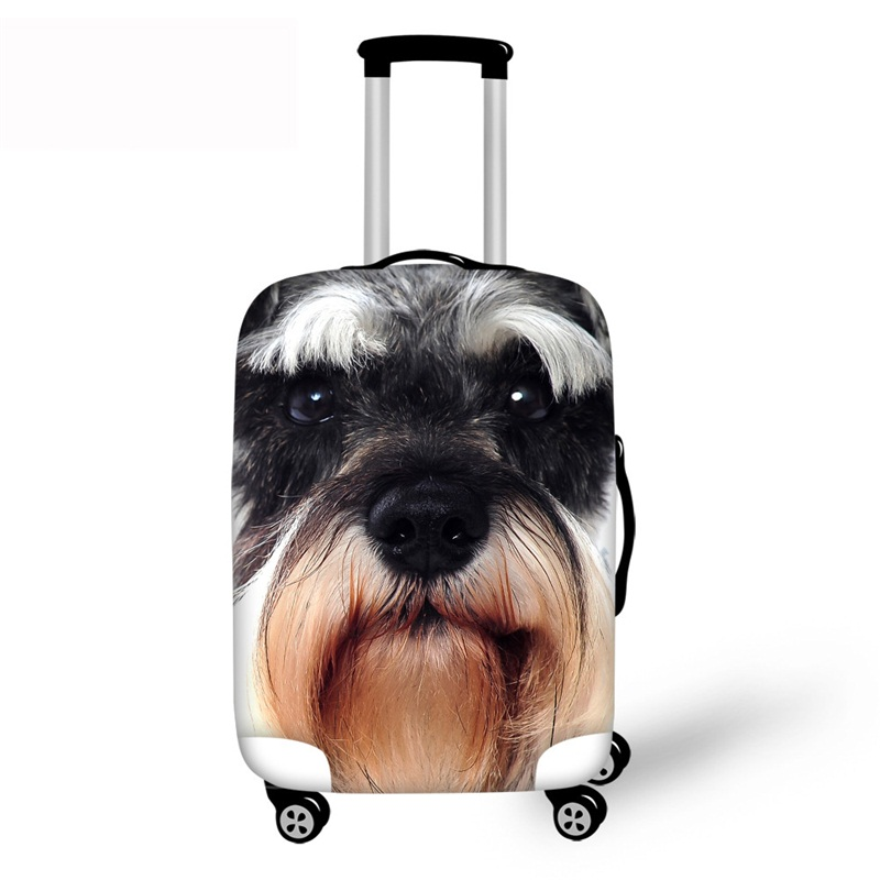 3D Animals Puppy Pet Pattern Waterproof Luggage Cover Protector 19 20 21
