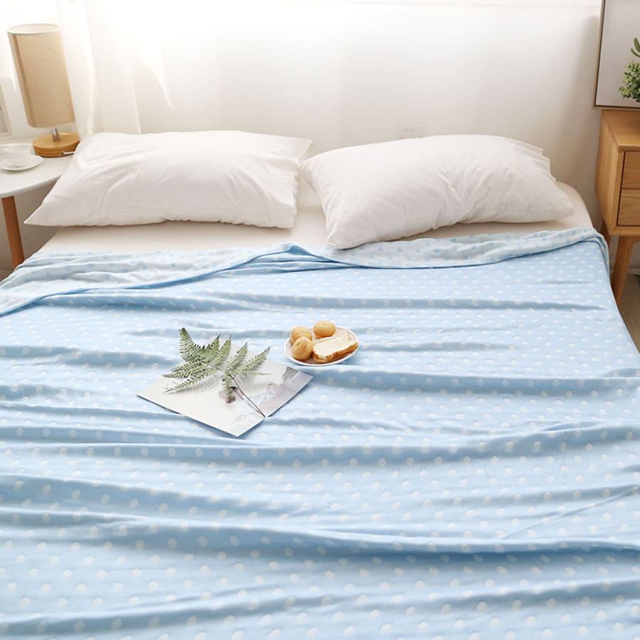 Simple Wave Point Design Bamboo Fiber Blanket