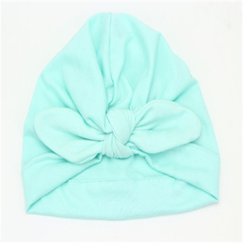 Bowknot Decoration Simple Style Pure Color Cotton Kids Hat