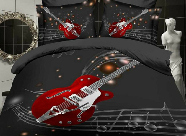 Fashion_Guitar_with_Stave_Print_4Piece_Polyester_Duvet_Cover_Sets