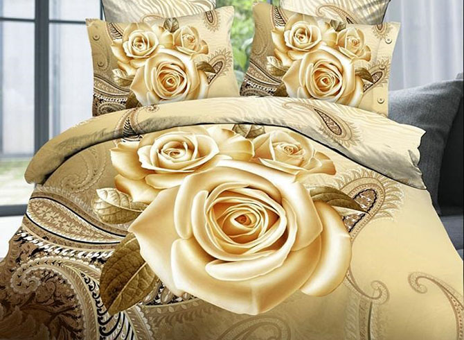 Luxury_Golden_Rose_Printing_4Piece_Duvet_Cover_Sets