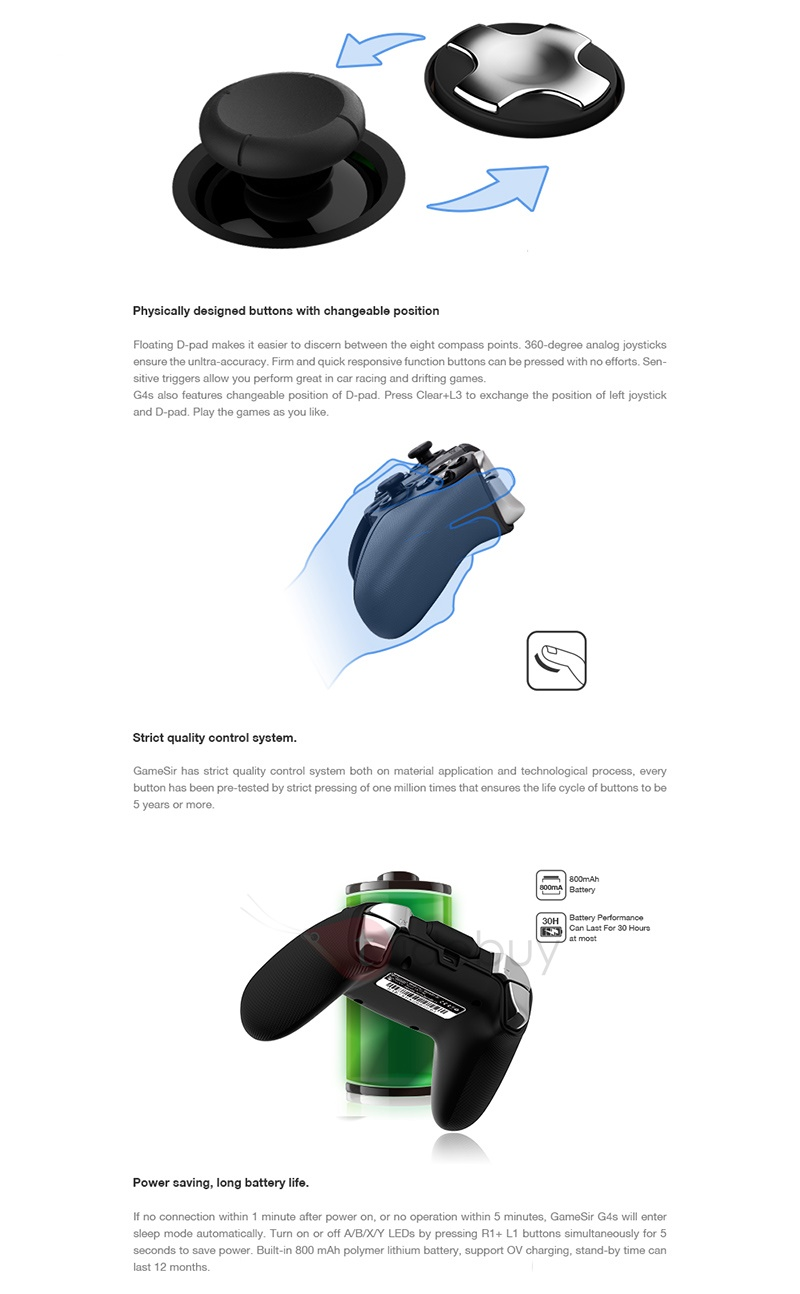 Gamesir G4 Gamepad for PS3/Android/IOS